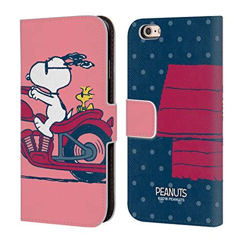 Head Case Designs Ufficiale Peanuts Snoopy & Woodstock metà E Risate Cover in Pelle a Portafoglio Compatibile con Apple iPhone 6 / iPhone 6s