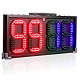 Leadleds 8-in LED Portable Football Electronic Soccer Change Player Display Board 1 Side Referee Substitution...