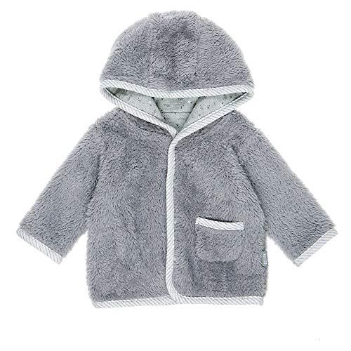 Feetje Baby-Jungen Wendejacke Plüschjacke mit Kapuze 518.00176-650 Grau, 62
