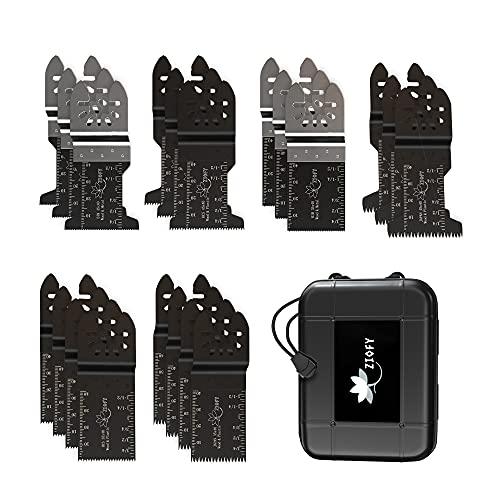 Ziofy 20Pcs Multitool Saw Blades Wood/Metal/Plastic, Universal Oscillating Multi Tools Accessories for Bosh Makita Dewalt Dremel Fein Milwaukee