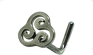 Triskelion Triskele Nose Stud Celtic 20 gauge 0.8mm Titanium L Bend Piercing