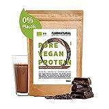Proteína Vegana en Polvo ORGANICA Chocolate sin soja - Proteína en Polvo Orgánica 650g de Arroz Orgánico, Proteína de Cáñamo y Proteína de Guisante'Para un batido de proteína orgánica'