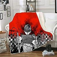 ブランケット・毛布 毛布投げアニメaot78×59インチ進撃の巨人男の子女の子大人加重毛布暖かい寝具シーツベッドシーツ家の装飾 (G)
