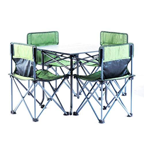 Mesas plegables de camping, mesas de picnic portátil, escritorio plegable plegable mesa con 4 sillas for camping Pesca Catering caballete de picnic fiesta de jardín barbacoa Patio lili ( Color : H )