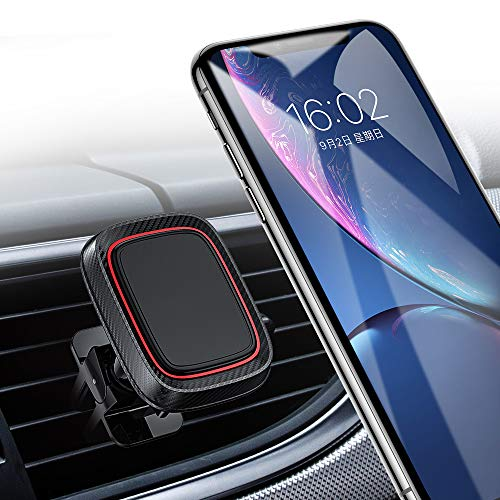 Magnetic Car Phone Mount, Car Phone Holder for Car Air Vent with 6 Strong Magnets Compatible with iPhone X/XR/Xs/Xs Max/8/8 Plus, Samsung Galaxy S10/10+/9/9+/, Note 9/8, Google, Huawei and More