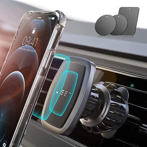 LISEN Magnetic Phone Holder for Car,[UPGRADED CLIP] Phone Car Mount [6...