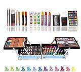 200pcs Conjunto de Dibujo de Arte, Creatividad Herramientas de Pintura Incluye Crayones de Cera, Acuarelas, Lápices de Colores, Pasteles, Regalos para Niños, Estudiantes, Principiantes y Artistas#2