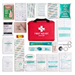 First Aid Kit - 200 piece - for Car, Home, Travel, Camping, Office or Sports | Red bag w/reflective cross, fully stocked… 4