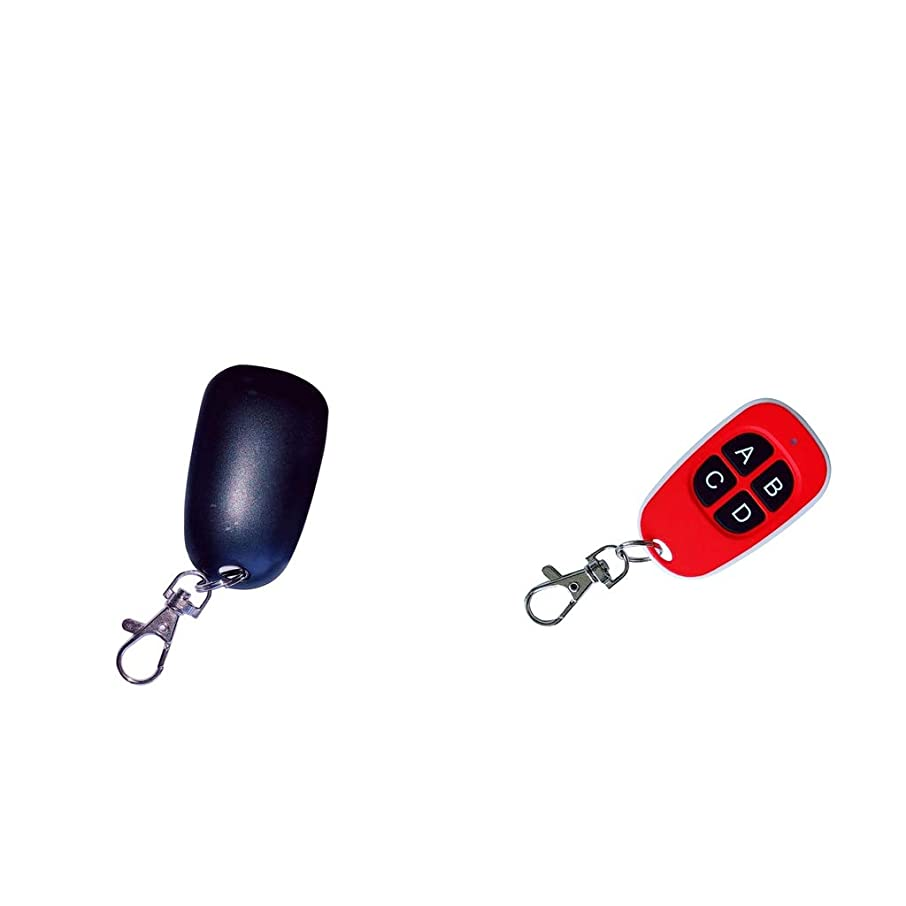 Flameer 433MHZ Remote Switch Lamp Cloning Remote Controls Duplicator Replacement Black/Red