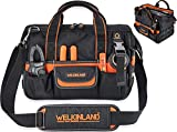 WELKINLAND 13-Inch Small tool bag, Electrician tool bag, Electrical tools bag, HVAC tool bag, Tool bags for electricians, Tool bags for men, Men's tool carrier, Drill bag, Tool bag organizer, Jumper cable bag