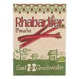 Die Stadtgärtner Rhabarber'Poncho'-Saatgut | Ideal für fruchtige Desserts, Süßspeisen, Kuchen und Marmeladen | Leicht keimende Samen