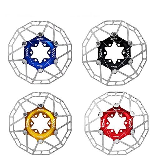 SXCXYG Disco Freno 1 unids Bicycle Disc Freno Rotor Flotante Almohadillas de Acero Inoxidable 160 mm Super Light MTB Rotores de Disco de Freno con 6 Tornillos para la Bicicleta MTB Freno Disco