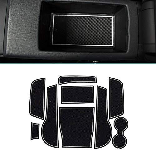 Muchkey pour 2014 2015 A3 Intérieur Coupe Porte Mat Tapis de Cuir Voiture Style Anti Poussière Antidérapante Tapis 9 pièces par Set Blanc
