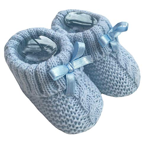Nursery Time Baby Boys Girls 1 par de botines de punto suaves para recién nacidos 116-354