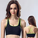 CapsA Push Up Wire Free Padded Sports Bra for Women Girls Running Yoga Bras Workout Activewear Workout Clothes Underwear