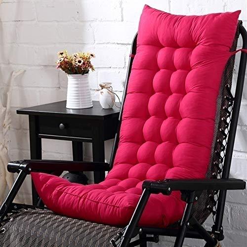 N/D Cojín Largo sólido para reclinable Silla de Mimbre Mecedora Plegable Grueso Jardín Tumbona Asiento Cojín del sofá Sofá Tatami 40x110cm Rosa Rojo