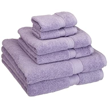 Superior 900 GSM Luxury Bathroom 6-Piece Towel Set, Made of 100% Premium Long-Staple Combed Cotton, 2 Hotel & Spa Quality Washcloths, 2 Hand Towels, and 2 Bath Towels - Purple
