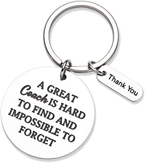 Eunigem Personalized Coach Keychain for Coach A Great Coach is Hard to Find Thank You Appreciation Key Ring Charm Tag Pendant Gift for Great Coach Retirement