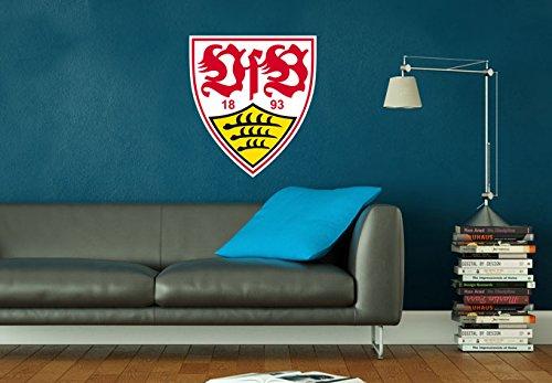 Wall-Art - Wandtattoo, Aufkleber - VfB Stuttgart Logo - 40x45 cm - Art. Nr. VFB10012