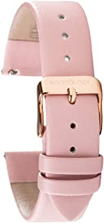 Wristology Pink Leather 20mm Watch Band - Quick Release Easy Change Mens | Womens Strap