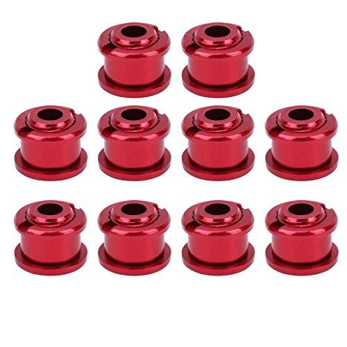 Demeras Bulloni per, 10 bulloni per Colorati da 4,9 mm Bulloni per Singola Leggeri con Facile Installazione per MTB per Il Ciclismo(Rosso)