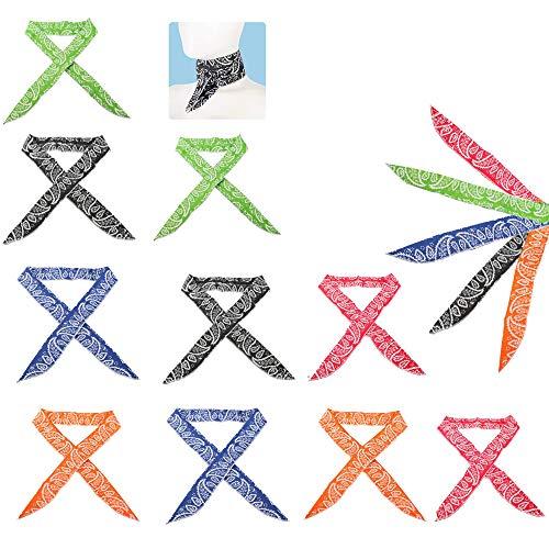 Integrity.1 Kühlendes Halstuch,10 Stück Ice Cooling Schal,Sports Cool Cooling Schal,Sofort Kühlender Schal, für Männer und Frauen Outdoor-Aktivitäten