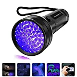 Black Light UV Flashlight, Vansky 2020 Upgraded UV lights 51 LED Blacklight Pet Urine Detector For Dog/Cat Urine,Dry Stains,Bed Bug, Matching with Pet Odor Eliminator