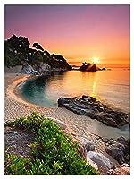 ダイヤモンド絵画 カンバスの手描きの贈り物を描く海沿いの絵画、絵画、日没キット、家の装飾 (Color : SZHC5877, Size(cm) : 40x50cm No frame)