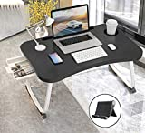 Lap Desk for Bed, Portable Laptop Table with Cup Holder, Foldable Laptop St