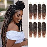 Passion Twist Hair - 8 Packs 10 Inch Passion Twist Crochet Hair For Black Women, Crochet Pretwisted Curly Hair Passion Twists Synthetic Braiding Hair Extensions (10 Inch 8 Packs, T30)