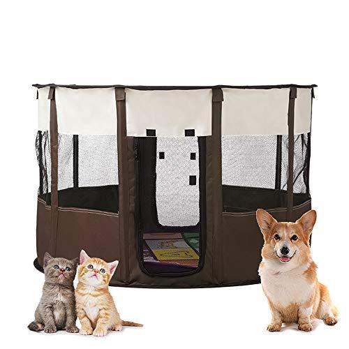 Plegable portátil Parque de Mascotas Uso en Interiores/Exteriores Portátil Parque Corral Oxford Cachorro Animales para Perros, Gatos, Conejos y Pequeño Animales fácil de instalar