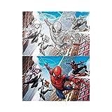 Prime 3D Puzzle para rascar Marvel Spiderman Multi Universo 150 Piezas, Multicolor