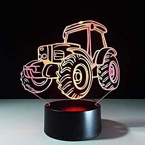 Lámparas De Ilusión Óptica Led 3D Luz Nocturna Tractor Luz Nocturna Banco...