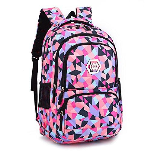 Zaino per ragazze, sacchetti di scuola per ragazze Zaino Borse per bambini per bambini Ideale per 1-6 studenti delle scuole elementari Outdoor Daypack Borsa da viaggio per adulti Uso quotidiano