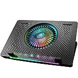 KLIM Orb + Base de refrigeración para portátiles RGB - 11 a 15,6 Pulgadas + Estable + Panel de Metal + Refrigeración para portátil Gaming Compatible con Mac y PS4 + Nueva 2021