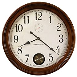 Howard Miller Auburn Wall Clock 620-484 – 32.5-Inch Distressed Hampton Cherry Home Decor with Quartz Movement