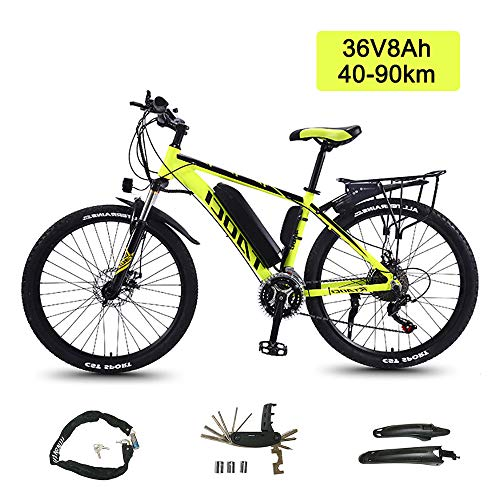 Super-ZS Elektrisches Mountainbike 26 Zoll 36V8Ah Lithium-Batterie Akkulaufzeit 50 Km Aluminiumlegierung Rahmen Outdoor-Reisen Erwachsenen Elektro-Booster Offroad-Fahrrad