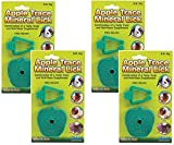 Ware Manufacturing 4 Pack of Apple Trace Mineral Licks with Holders for Rabbits, Guinea Pigs, Hamsters, and Other Small Animals