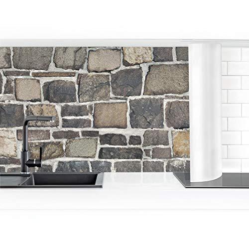 Bilderwelten Küchenrückwand Folie selbstkl. Bruchsteintapete Natursteinwand 50x250cm Premium