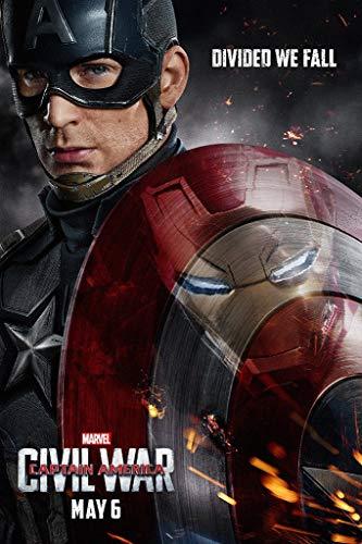 WOAIC Captain America Civil War Poster for Bar Cafe Home Decor Painting Wall Sticker Frameless 24X36 Inch(60X90CM)