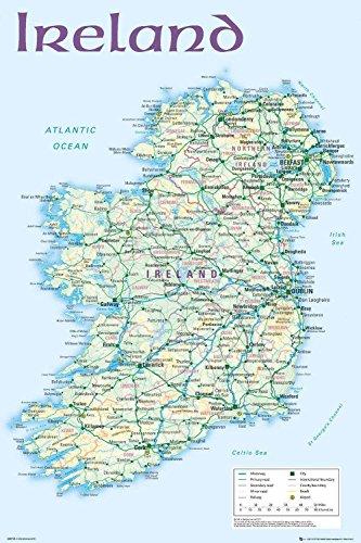 Close Up Ireland Map Poster Karte von Irland (61cm x 91,5cm)
