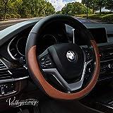 Valleycomfy Microfiber Leather Steering Wheel Covers Universal 15...