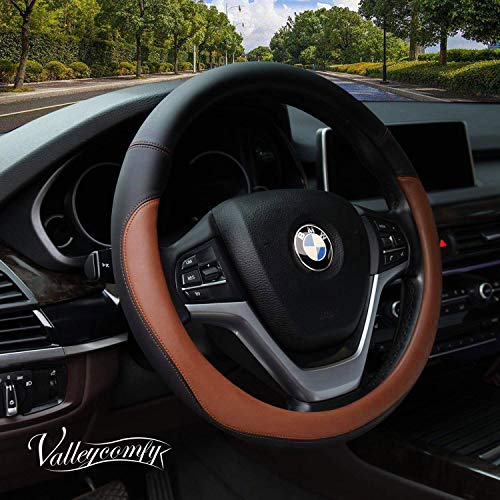 Valleycomfy Microfiber Leather Steering Wheel Covers Universal 15...