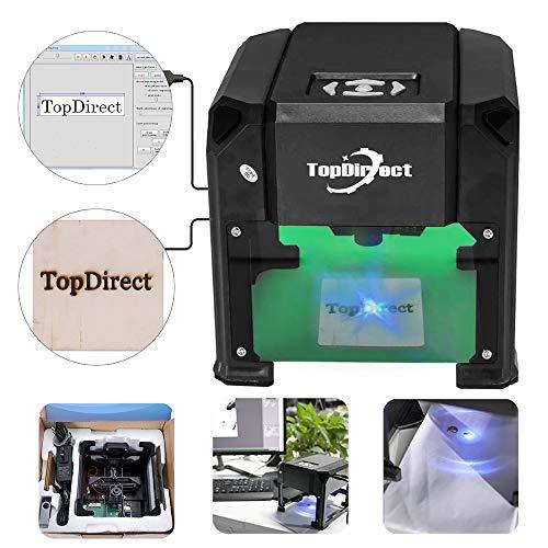 TopDirect 3000mw Laser Engraving Machine Mini Laser Engraver Printer...