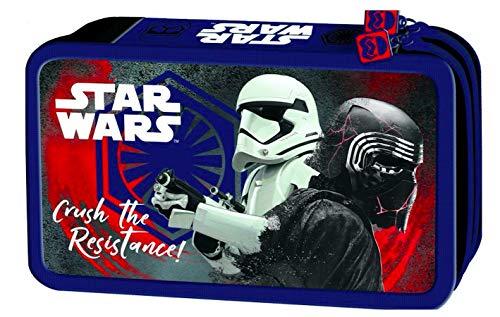 Star Wars Clone doppelstöckig 2-Stock 26 Teile Trooper FEDERTASCHE FEDERMAPPE inklusive Sticker-von-Kids4shop Etui blau