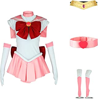 ANOTHERME Women's Costume Sailor Moon Chibi USA Chibi Cosplay Outfit Uniform Dress Suit Female
