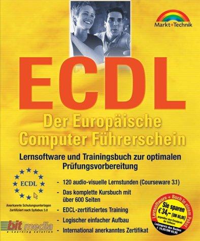 ECDL - Der Europäische Computer Führerschein: Lernsoftware und Trainingsbuch zur optimalen Prüfungsvorbereitung (M+T Software)