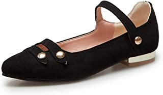 Womens Mary Jane Ballet Flats Loafers Soft Leather Casual Slip On Dress Low Heel Flat Shoes
