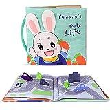 TUMAMA Libri di Stoffa Baby,Libro attività Giocattolo per Neonati Abbigliamento Libro Morbido Giocattoli Educativi Regali per Neonati Neonati Toddlers(Green)