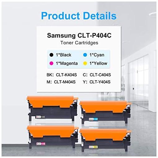 Sizzler Compatible CLT-P404C Cartuchos de tóner Reemplazo para Samsung CLT-K404S CLT-C404S CLT-M404S CLT-Y404S Toner… 6